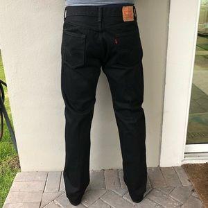Levi's 505 Straight Leg 34x34 Black Jeans